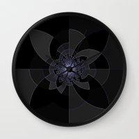 tron Wall Clocks featuring Tron Kaleidoscope by 2sweet4words Designs