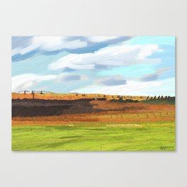 Farming Plain Canvas Print