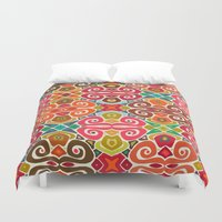 fall Duvet Covers featuring FALL by Sharon Turner