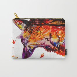 Autumn (The wolf, the deer and the autumn, christmas forest) Carry-All Pouch