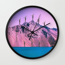Pink Planet Wall Clock