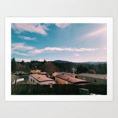 Trailer Park Living in Lincoln City, Oregon Art Print