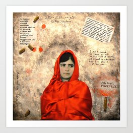 MALALA MUST DIE Art Print