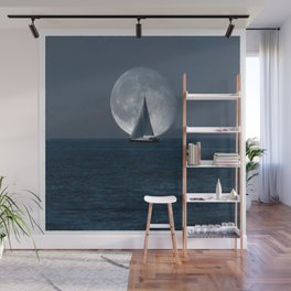Full Moon Sailing Wall Mural
