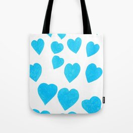 Many Blue Hearts Tote Bag