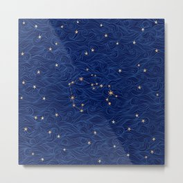 Sagittarius Constellation - Art Pattern Print Metal Print