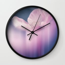 FADING BEAUTY - Abstraction of a pink cosmea Wall Clock