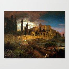 Villa d'Este in Tivoli by Oswald Achenbach Canvas Print
