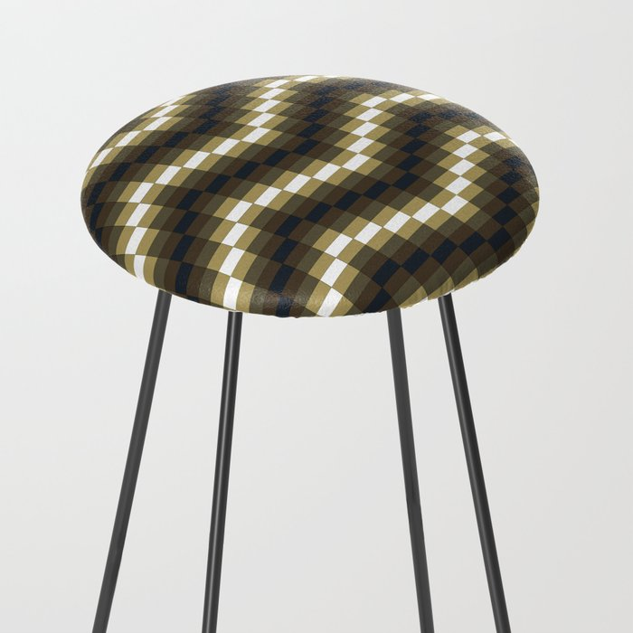 Block Wave Illustration Artwork Counter Stool