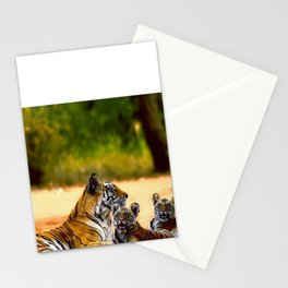 Tiger Family Stationery Cards