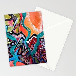 in orbit Stationery Cards
