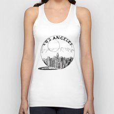 Los Angeles in a glass ball Unisex Tank Top