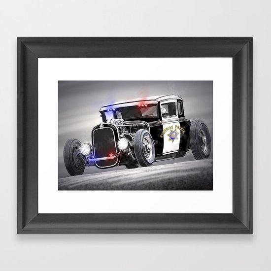 Hot Rod Police Car Framed Art Print