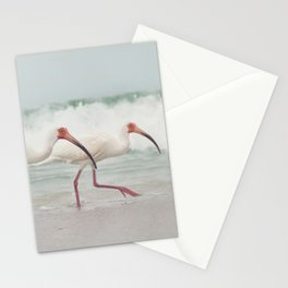 Three Little Ibis All in a Row Stationery Cards