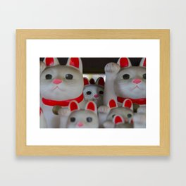 Maneki-neko Framed Art Print