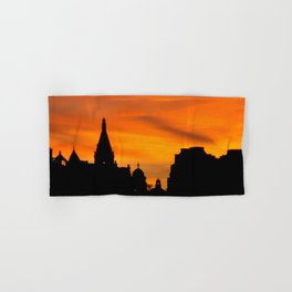 London Sunset in sillouette bywhacky Hand & Bath Towel