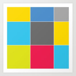 Colors and Squares Art Print
