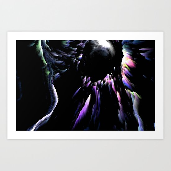 TEARS OF A CLOWN Art Print