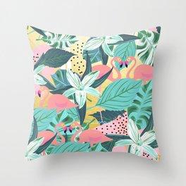 Flamingo Tropical #society6 #decor #buyart Throw Pillow