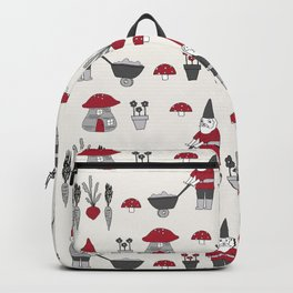 Gnome garden cute kids home pattern minimal gender neutral gnomes Backpack