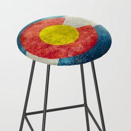 Colorado State flag, Vintage retro style Bar Stool