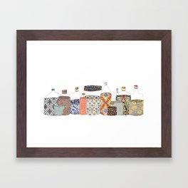 bottled happiness Framed Art Print