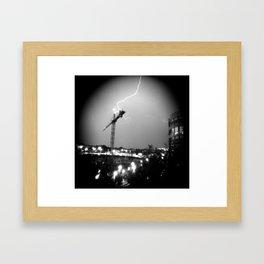 Lightning Skip Framed Art Print