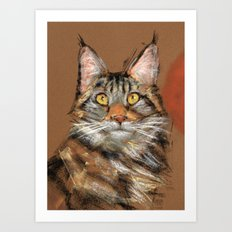 Modern Cat Art Print
