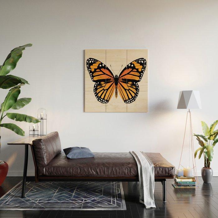 Monarch Butterfly | Vintage Butterfly | Wood Wall Art