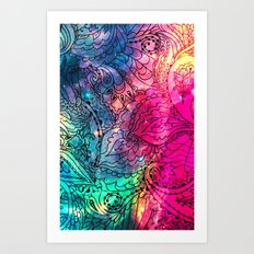 Space Flowers - for iphone Art Print