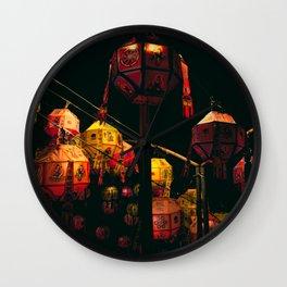 Korean Lanterns Wall Clock