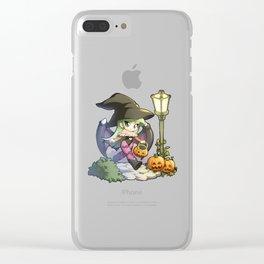 Halloween Morrigan Clear iPhone Case