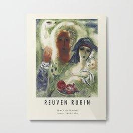 Poster-Reuven Rubin-Peace Offering. Metal Print