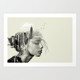 New York City reflection Art Print