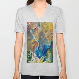 Complimentary Abstract Unisex V-Neck