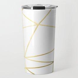 Gold Metallic Nodes Travel Mug