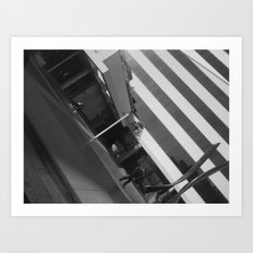 SOMEWHERE ON WILSHIRE Art Print