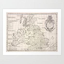 Vintage Map of The British Isles (1700) Art Print