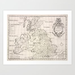 Vintage Map of The British Isles (1700) Art Print
