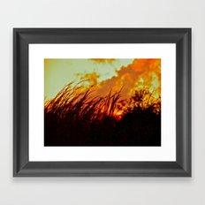 Sunset Brings the Wind Framed Art Print