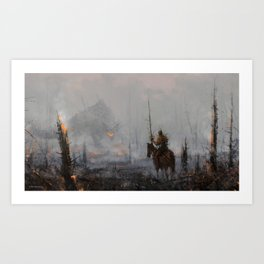 'last wooden knight, guardian of the forest' Art Print