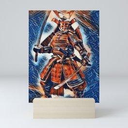 Samurai Warrior Ninja Armed Mini Art Print