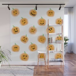 Pumpkin Patch Family Wall Mural