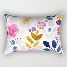 Pink Affair Floral Rectangular Pillow