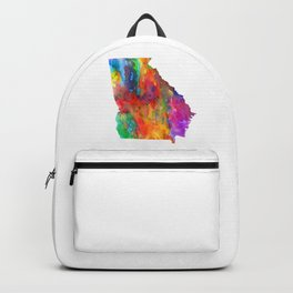 Georgia Watercolor Map by Zouzounio Art Backpack