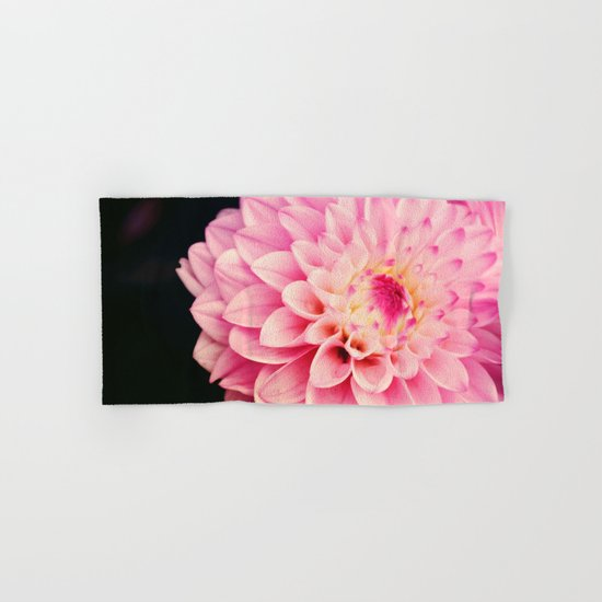 Sweet Pink Dahlia Hand & Bath Towel