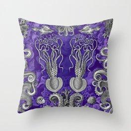 The Kraken (Purple - No Text) Throw Pillow