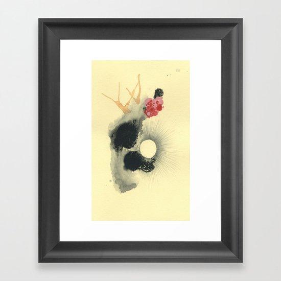 the pearl Framed Art Print