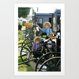 The Amish Buggy  Art Print