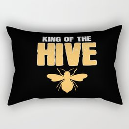 King Of The Hive Beekeeper Bumble Bee Wasp Hornet Rectangular Pillow